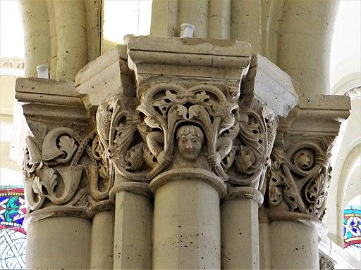 Paris - Prieuré de Saint-Martin-des-Champs - Église - Chapiteaux du déambulatoire -2