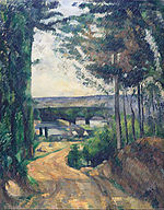 Paul Cézanne - Road leading to the lake - Google Art Project.jpg
