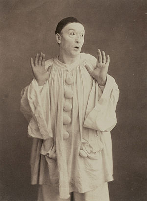 Pierrot - Paul Legrand as Pierrot circa 1855.  Photograph by Nadar.