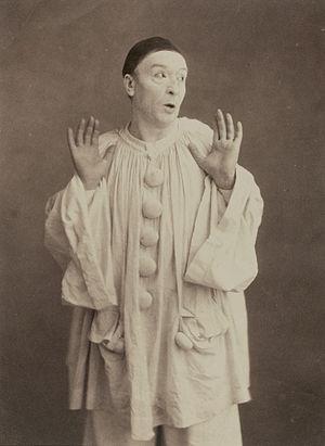 Pierrot - Paul Legrand as Pierrot circa 1855.  Photograph by Nadar.