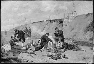 French Soldiers Resting
