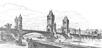Arlington Memorial Bridge - An early 1887 design for the memorial bridge across the Potomac River, by Paul J. Pelz.