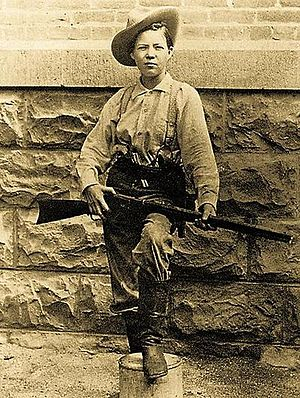 Pearl Hart - Pearl Hart attired in men's clothing