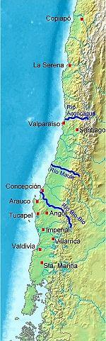 Pedro De Valdivia Siedlungen in Chile 1540 bis 1553