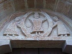 Pelagalls - Iglesia de Sant Esteve (Timpano).jpg