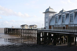 Penarth town in the Vale of Glamorgan, south Wales