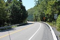 Pennsylvania Route 225 south in Little Mahanoy Township, Northumberland County, Pennsylvania.JPG