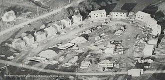 CFB Chilliwack - Aerial photo of the Permanent Married Quarters CFB, Chilliwack