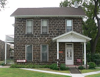 National Register of Historic Places listings in Ellsworth County, Kansas - Image: Perry Hodgden house from NE 2