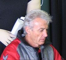 Peter Brock autographs Bathurst 2005.jpg