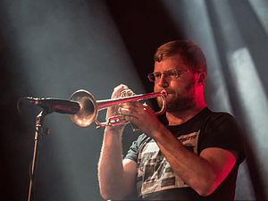 Peter Evans (musician) - Evans performing at the Moers festival 2015