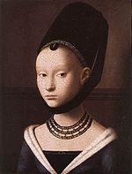 Petrus Christus, Portrait of a young girl-2.jpg