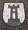 Pflastermosaik in Kirchzarten, Wappen des Ortsteils Burg.jpg