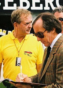 Phil Hill + Jackie Stewart 1991 USA.jpg