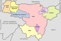 Cantons of Pichincha Province