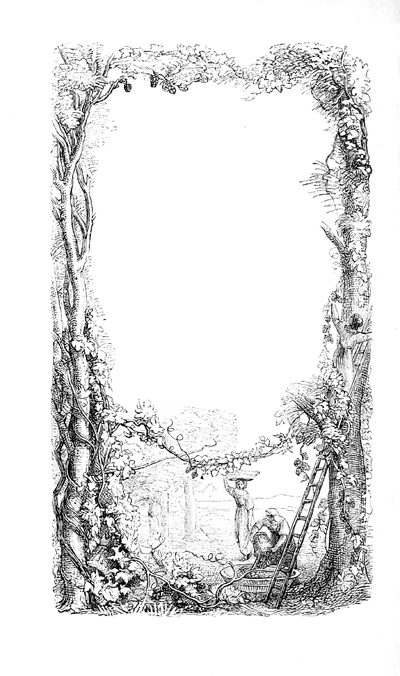 "Artwork border from concluding page of Dickens's work ""Pictures From Italy"""
