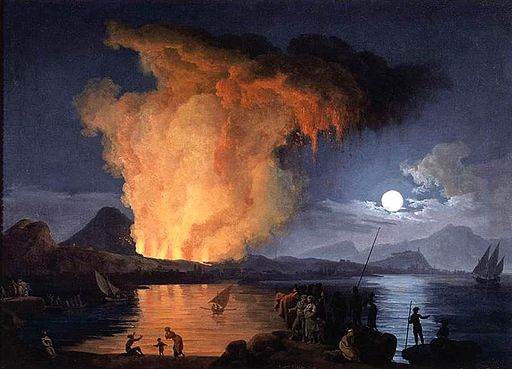 Pierre-Jacques Volaire - View of the Eruption of Mount Vesuvius - WGA25290