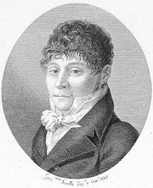 Pietro Generali - Pietro Generali on a stiple engraving by Luigi Rados.