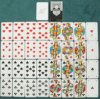 Stripped deck - A 32-card Piquet deck, lacking ranks from 2 to 6
