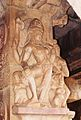 Pillar relief sculpture at the Durga temple in Aihole.jpg
