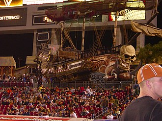 Raymond James Stadium - The pirate ship at Raymond James Stadium