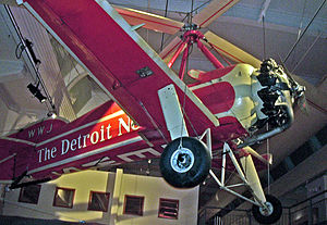 Pitcairn PCA-2 - PCA-2 operated by the Detroit News, displayed at the Henry Ford Museum in Dearborn, MI.