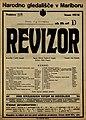 Plakat za predstavo Revizor v Narodnem gledališču v Mariboru 23. novembra 1927.jpg