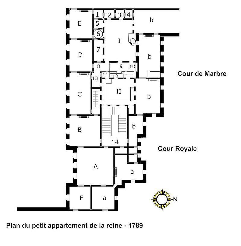 Plan du petit appartement de la reine 1789.jpg
