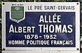 Plaque Allée Albert Thomas - Le Pré-Saint-Gervais (FR93) - 2021-04-28 - 1.jpg