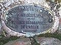 Plaque en bronze scellée Armée Francaise.JPG