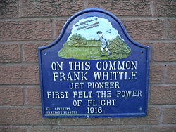 Photo of Frank Whittle multicoloured plaque