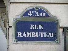Rue rambuteau wikip dia - Rue rambuteau paris ...