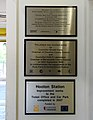 Plaques at Hooton Station.jpg