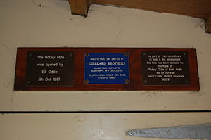 Snettisham RSPB reserve - Plaques in Rotary Hide