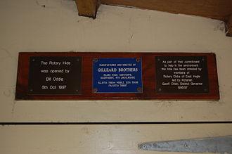 Snettisham RSPB reserve - Plaques in Rotary Hide