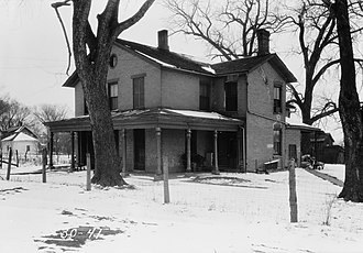 Plum Grove Historic House - Plum Grove, 1934, prior to restoration.
