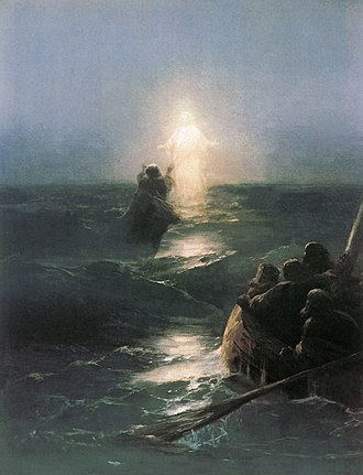Miracles of Jesus - Christ Walks on Water, by Ivan Aivazovsky, 1888.