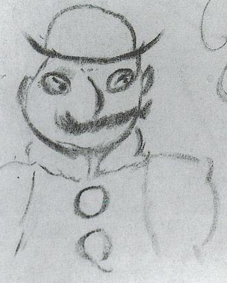 Leopold Bloom - Drawing of Leopold Bloom by Joyce