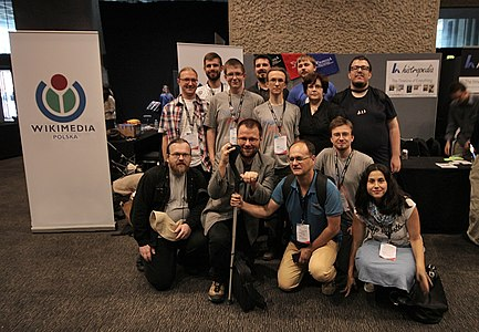 Polish wikimedians at Wikimania 2014.jpg