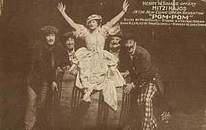 Henry Wilson Savage - Ad for the Savage produced musical Pom-Pom (1916) starring Mitzi Hajos
