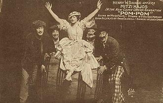 Mitzi Hajos - Mitzi Hajos in publicity still for Pom-pom (1916)