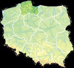 wojew�dztwo pomorskie na mapie Polski