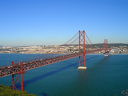 Originally named after former Prime Minister António de Oliveira Salazar, the 25 de Abril Bridge is a Lisbon icon. Ponte25Abril1.jpg