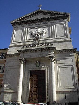 Teodorico Pedrini -  Rome – Church of San Salvatore in Lauro – place of Collegio Piceno, now Pio Sodalizio dei Piceni