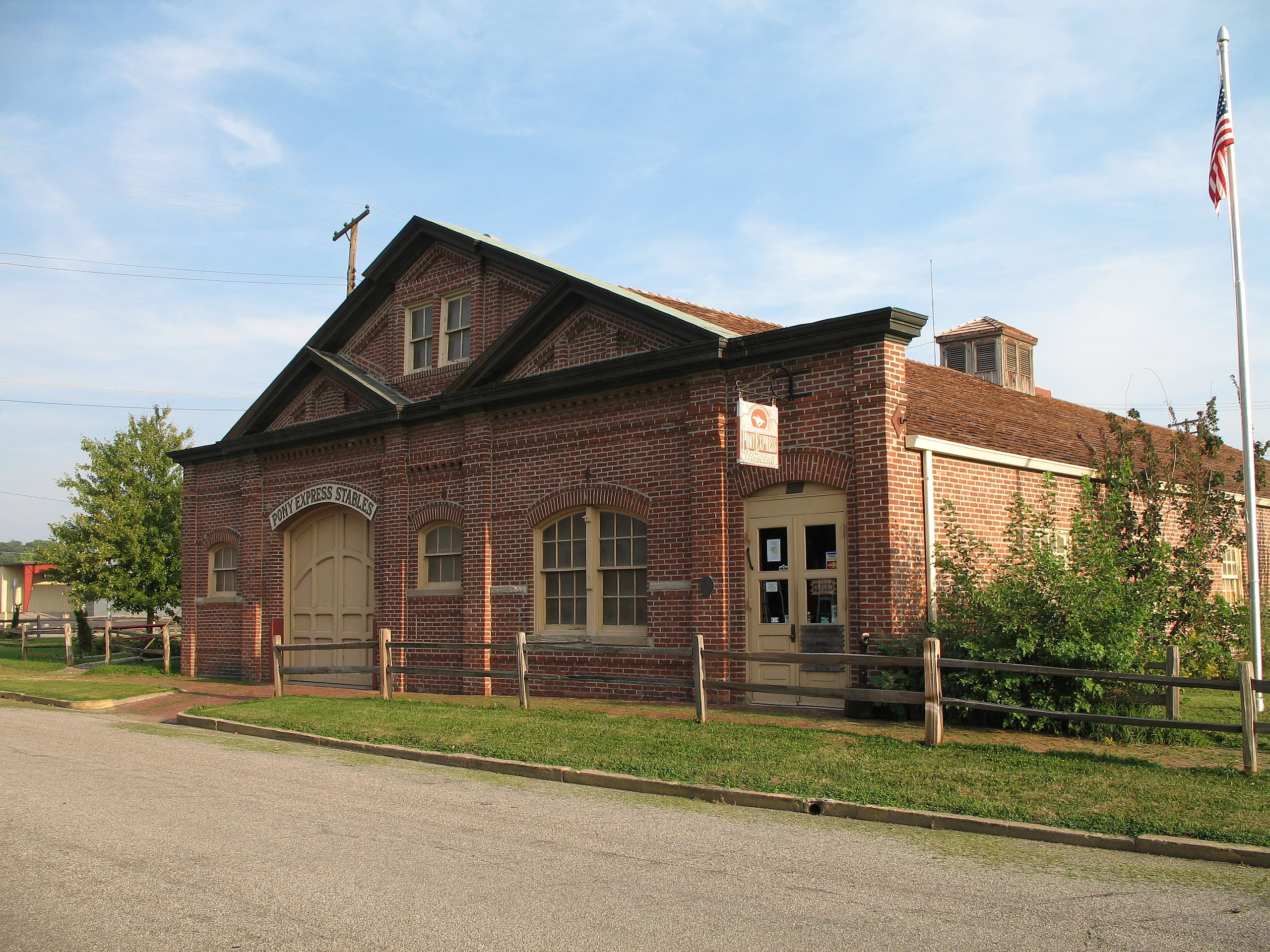 Missouri Pony Express Stables at St. Joseph Historic Landmark