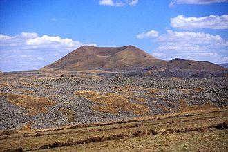 Armenia–Azerbaijan border - The volcanic field of Porak volcano (called Akharbakhar in Azerbaijan), which straddles the Armenia–Azerbaijan border