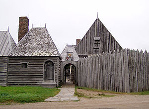 Port-Royal National Historic Site - The entrance into the replica of the Habitation at Port-Royal at the Port-Royal National Historic Site.