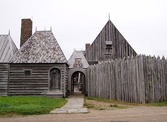 Port Royal, Annapolis County, Nova Scotia - Port-Royal National Historic Site, location of the Habitation at Port-Royal which is a replica of the original French colonial settlement.