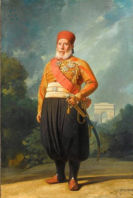 Ibrahim Pasha led the Egyptian army in the Levant Portrait d'Ibrahim Pacha 2.JPG