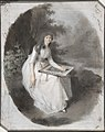 Portrait of a Seated Young Lady Drawing under a Tree MET DP803846.jpg